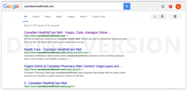 google search Canadianhealthmall